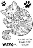 Woodware - Decorative Cat - Clear Magic Single Stamp - JGS577
